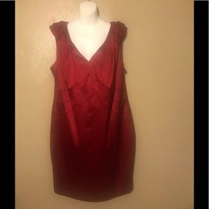 Dress barn red evening dress size 20, polyester